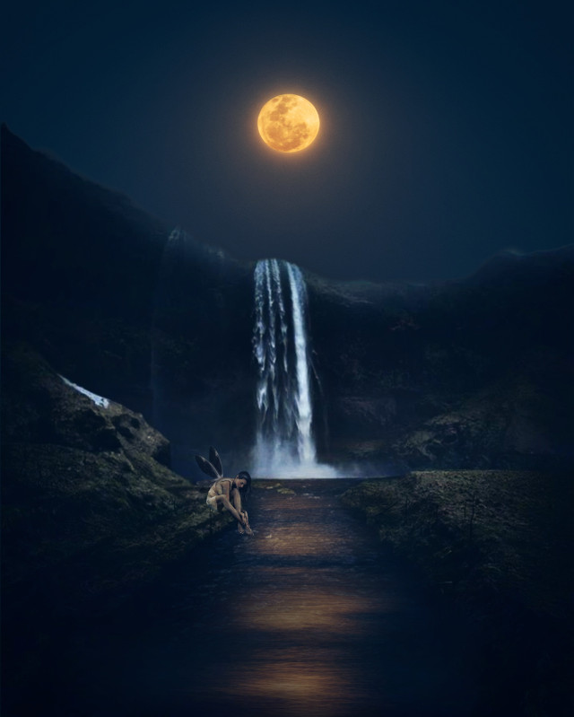 #fantasy #magical #surreal #moon #sky #landscape #myedit #madewithpicsart #picsarteffects