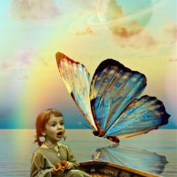 mastershoutout butterfly myedit doubleexposure art creative magical planets freetoedit