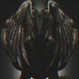 freetoedit picsart remixed remixit myedit photoedit photomanipulation digitalart digitaledit madewithpicsart editedbyme editedwithpicsart surrealism magic fantasy stayinspired picsarteffects unsplash pexels shutterstock pastickers devil wings shadow