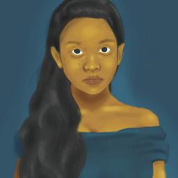 drawing portrait people superhero woman freetoedit