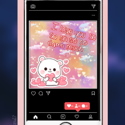 celular amor love instagram frase frases frasesdeamor kawaii cute tierno celularphone ositodepeluche osito😍🐻 amoremio freetoedit osito
