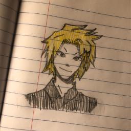 traditionalart denkikaminari denki art doodle sketch mha myheroacademia bokunoheroacademia anime weeb otaku