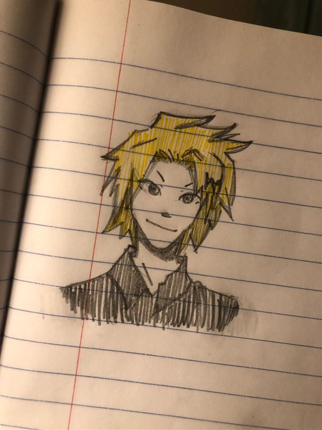 𝗜 𝗗𝗥𝗘𝗪 𝗗𝗘𝗡𝗞𝗜 :𝗗  𝗵𝗲 𝗹𝗼𝗼𝗸𝘀 𝘄𝗼𝗻𝗸𝘆 𝘁𝗼 𝗺𝗲 😑 𝗯𝘂𝘁 𝗼𝘃𝗲𝗿𝗮𝗹𝗹, 𝗶 𝘁𝗵𝗶𝗻𝗸 𝗶𝘁 𝘁𝘂𝗿𝗻𝗲𝗱 𝗼𝘂𝘁 𝗰𝘂𝘁𝗲 🥺✨ 𝗘𝘅𝗣𝗼𝗦𝗶𝗡𝗚 𝗠𝗬𝘀𝗘𝗹𝗙 𝗕𝘂𝗧 𝗟𝗶𝗞𝗘 𝗶'𝘃𝗲 𝗻𝗲𝘃𝗲𝗿 𝘄𝗮𝘁𝗰𝗵𝗲𝗱 𝗺𝘆 𝗵𝗲𝗿𝗼 𝗮𝗰𝗮𝗱𝗲𝗺𝗶𝗮 👀 𝗶 𝗿𝗲𝗮𝗹𝗹𝘆 𝘄𝗮𝗻𝘁 𝘁𝗼 𝘁𝗵𝗼𝗼𝗼 😫 𝗱𝗲𝗳𝗶𝗻𝗶𝘁𝗲𝗹𝘆 𝗼𝗻 𝗺𝘆 𝘁𝗼 𝘄𝗮𝘁𝗰𝗵 𝗹𝗶𝘀𝘁 ;) 𝗯𝗲𝗳𝗼𝗿𝗲 𝗱𝗿𝗮𝘄𝗶𝗻𝗴 𝗱𝗲𝗻𝗸𝗶, 𝗶 𝘄𝗮𝘀 𝘁𝗿𝘆𝗶𝗻𝗴 𝘁𝗼 𝗱𝗿𝗮𝘄 𝗸𝗶𝗿𝗶𝘀𝗵𝗶𝗺𝗮 𝗯𝘂𝘁𝘁𝘁𝘁𝘁𝘁 𝘂𝗵𝗵𝗵 𝗵𝗲 𝗹𝗼𝗼𝗸𝗲𝗱 𝗹𝗶𝗸𝗲 𝗽𝗼𝗼𝗽 𝘀𝗼 𝗶 𝗱𝗿𝗲𝘄 𝗱𝗲𝗻𝗸𝗶 :)))) 𝗼𝗸𝗮𝘆 𝗹𝗼𝗹 𝘁𝗵𝗮𝘁'𝘀 𝗶𝘁 😄✌️⚡️  𝗵𝗮𝘀𝘁𝗮𝗴𝘀:  #traditionalart #denkikaminari #denki #art #doodle #sketch #mha #myheroacademia #bokunoheroacademia #anime #weeb #otaku lol i dont even know what im typing anymore 😂
