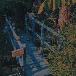 freetoedit garden bridge cute aesthetic cottagecore myedit