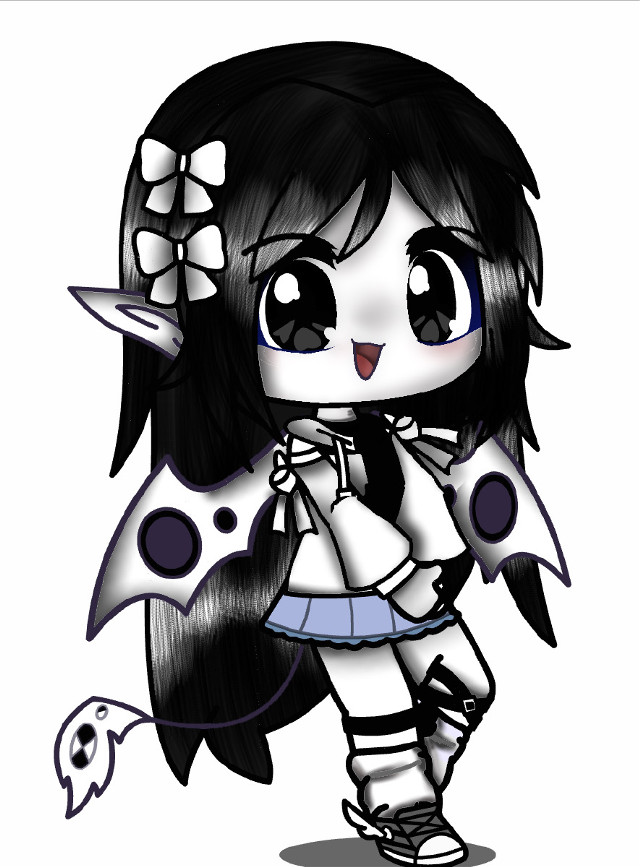 """♡︎♥︎♡︎edit of ying !!♡︎♥︎♡︎  Okay so like- I was bored but i couldnt rly be bothered to make a new character so i just edited this photo of ying lel- Comment """"🖤🤍"""" for yang!!!!   Tehe-  Ciao kittens!!! 🖤🤍🖤 #yingandyang"""