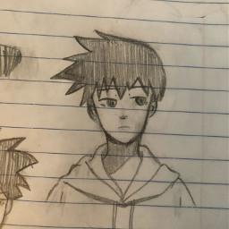 anime drawing doodle art traditionalart artmadebyme ritsu ritsukageyama mobpsycho mobpsycho100 uglysketch sketch weeb animeart otaku