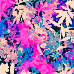 freetoedit glitter sparkle galaxy flowers floral nature shimmer pattern background overlay hipster aesthetic