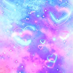 freetoedit glitter sparkle galaxy sky stars heart love smoke pastel cute girly glitch aesthetic kawaii background overlay