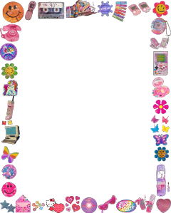 border frame pink pinkcore 90s aesthetic 90saesthetic softcore soft stickers y2k hellokitty sanrio clueless freetoedit
