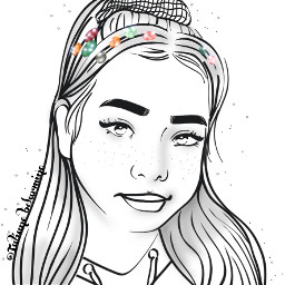 bellapoarch mydrawing outline summervibes beautifulbirthmarks staypositive madewithpicsart cute girl people dibujo remixit freetoedit