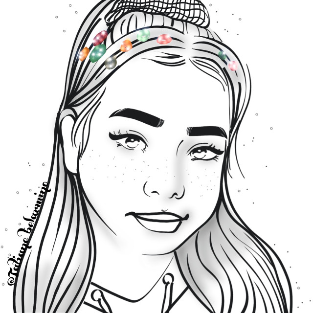 🙋♀️@bellapoarch 👉🏻Hello my friend, how are you? sorry I'm not able to comment, but I'm glad you liked the drawing🥰👏🤗 #bellapoarch #mydrawing #outline #summervibes  #beautifulbirthmarks #staypositive #madewithpicsart #cute #girl #people #dibujo #remixit @tatianebelarmino @freetoedit @picsart @bellapoarch