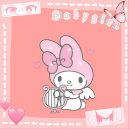hellokitty bunny frame pink kawaii freetoedit