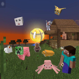 minecraft minecraftmemes minecraftcursed cursed meme steve cat pig spider creeper stronk villager chest circle house bee chicken fat thicc hot babe dab dog tree grass freetoedit