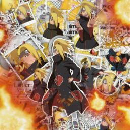 anime manga otaku japan weeb naruto shippuden narutoshippuden akatsuki deidara deidaraakatsuki akatsukideidara explosion art freetoedit