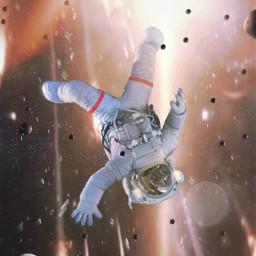 astronaut meteorite glass explotion space ftestickers madewithpicsart picsarteffects freetoedit