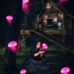 freetoedit jellyfish forest fantasy madewithpicsart