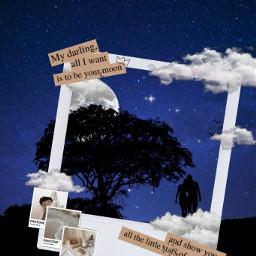 night moon clouds tree romantic love srcdreamyinstantfilmframe dreamyinstantfilmframe freetoedit