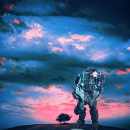 freetoedit surrealismo surreal robots war