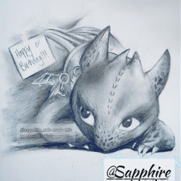 toothless toothlessdragon howtotrainyourdragon httyd drawing art sketch pencilsketch birthdaypresent pencildrawing dragon cute traditionaldrawing