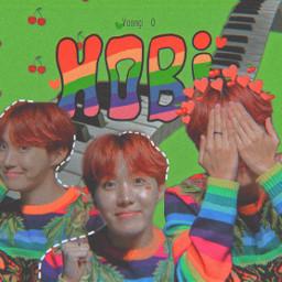 hobi hope jhope bts junghoseok rainbow army aethetics colorful cute
