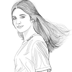 portrait outline colorme colorthis makeitawesome outlines drawing sketch illustration naturalgirl trendygirl teen hairart hair lineart freetoedit remixit