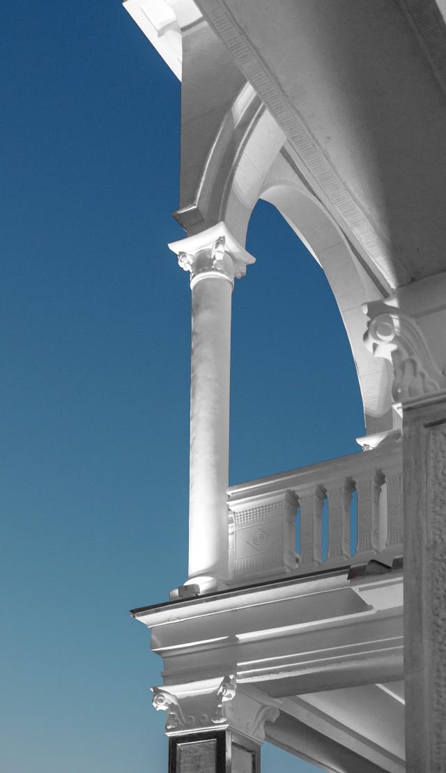 Beauty of architecture #arch #column #architecture #exterior #blue #sky #evening #white #city #urban #photo #photography #Canon #Canon700D #photoshop #photoshopcs5