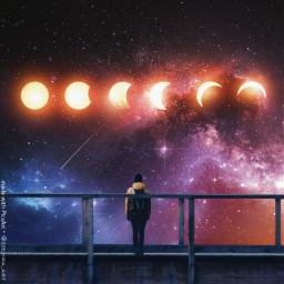 space moon dream surreal freetoedit unsplash