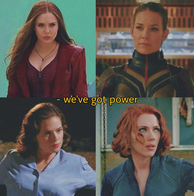 i love these women 😩😩 #mcu #marvel #wandamaximoff #hopevandyne #peggycarter #natasharomanoff #blackwidow #wandavision #women #elizabetholsen #scarlettjohansson #pleaselike #pleasefollow