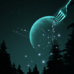freetoedit surreal moon fork night