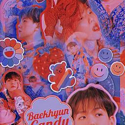 maridescently byunbaekhyun baekhyun baekhyunexo exo candy rainbow retro kidcore rainbowcore wallpaper kpop kpopedit superm