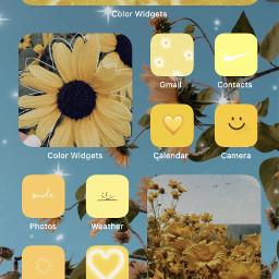 yellowaesthetic iphone11 homescreenchallenge postivethoughts fcshowoffyourhomescreen