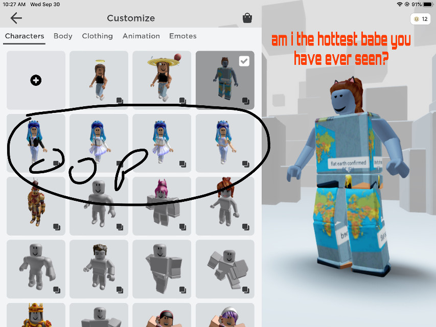 #babe #roblox i am
