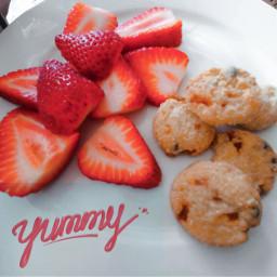 strawberries cookies coffeetime yummy foodphotography myphotography