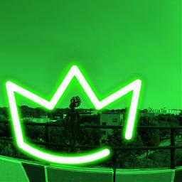 neonbaby queen atlanta beltline steel highlands green neon hairdo georgia skyline freetoedit