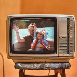 retrovibes retro vacation willywonka orange oldschool tv freetoedit