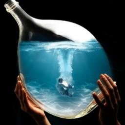 boy guy water mar ocean oceano nadar swim swimming hands vidrio freetoedit