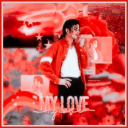 michaeljackson jam aesthetic red rojo edit fanedit