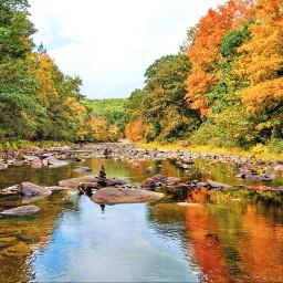 naturephotography outdoorphotography rocks smallriver reflections autumncolors freetoedit