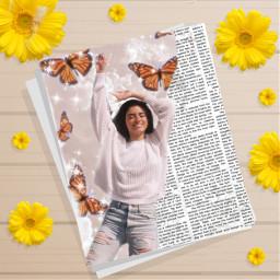 butterfly smile sunflower dixiedamelio book staysafe stayhome wearamask socialdistancing behappy freetoedit