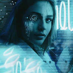 freetoedit cyborg cyber cyberpunk neon