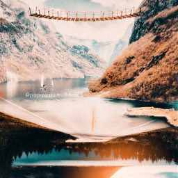 picsart myedit myremix surreal freetoedit sky photomanipulation photoart fxeffects earthplanet upsidedown paralleluniverse upsidedownworld nature mountains followme