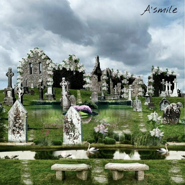 #@asweetsmile1 #wedding #lake #pond #background #happy #death #funeral #creative #blend #blendedimages #remix