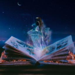 magic imagination fantasyart fantasy book light freetoedit