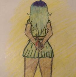 drawing yandere freedraw art drawnbyme givecredit creepy creepygirl
