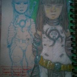 freetoedit drawing art character superhero trans girl magic coloredpencils pudding
