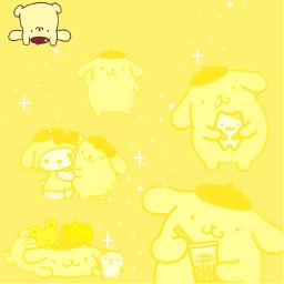 pompompurin yellow dog yellowdog cute lazyedit lazy sanrio pompompurinsanrio freetoedit