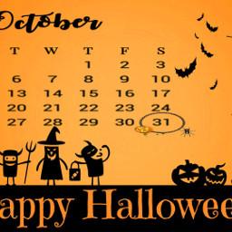 happyhalloween freetoedit challenge october 🎃 🦇🕷️ calendar2020 haveagoodday❤ haveagoodday srcoctobercalendar octobercalendar