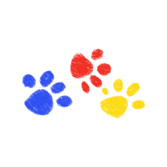 agere ageregression cute kidcore primarycolors pawprints dog paws cat freetoedit