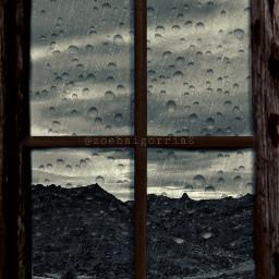freetoedit rain window grayday gray srcrainonme