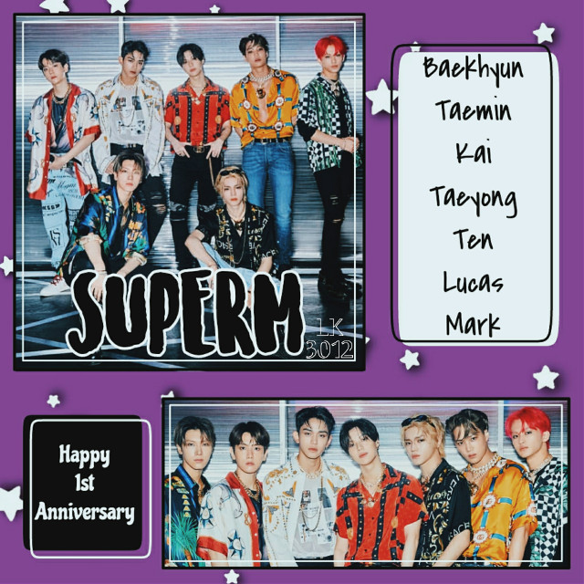 SuperM 🤘  Happy 1st Anniversary to SuperM!!!! It's been a year since their debut! I can't believe it 🤧 We have to support them, we all know how SM is, that's why I think we have to support the artists even if we are mad at the SM 😥 Stream Super One!!!  📝 Request Open 🔓   ---✨ Tags ✨---  #1styearwithsuperm #superm #baekhyun #taemin #kai #taeyong #ten #lucas #mark #kpop #kpopsuperm #kpopedit #supermedit  #freetoedit